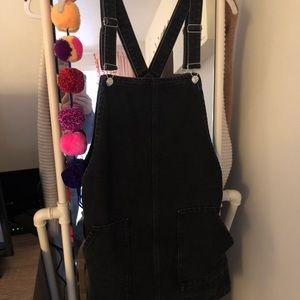 Topshop Moto Denim Overall Dress